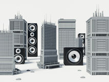 Audio city Stock Photography