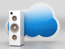 Audio Cloud Stock Image