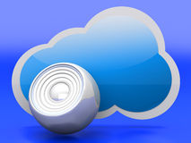 Audio Cloud Royalty Free Stock Photography
