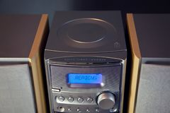 Audio Compact Component Mini Stereo System. Cd tray top view stock photos