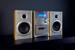 Audio Compact Component Mini Stereo System.  stock photo