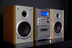 Audio Compact Component Mini Stereo System. Side view stock photography