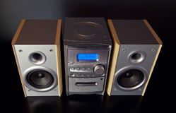 Audio Compact Component Mini Stereo System. View from top royalty free stock image
