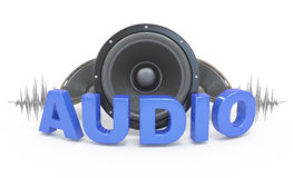 Audio concept icon. Royalty Free Stock Photography