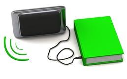 Audio concetto 3d del libro Fotografie Stock Libere da Diritti