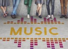 Audio concetto del grafico di Wave di canzone di musica Fotografia Stock