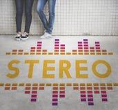 Audio concetto del grafico di Wave di canzone di musica Immagine Stock Libera da Diritti