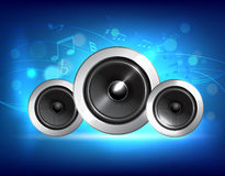 Audio concetto di musica dell'altoparlante Immagine Stock Libera da Diritti