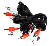 Audio connector cables Royalty Free Stock Photo
