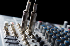 Audio connectors Royalty Free Stock Image