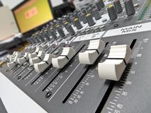 Audio console 8 Fotografie Stock