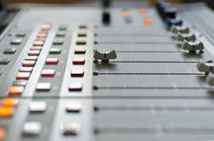 Audio console Fotografia Stock