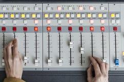 Audio console Fotografie Stock Libere da Diritti