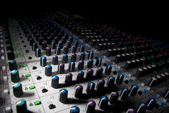 Audio console Stock Foto