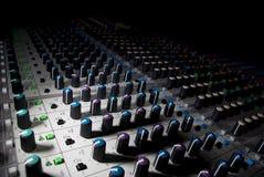 Audio console Stock Photo