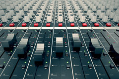 Audio Console. Royalty Free Stock Image
