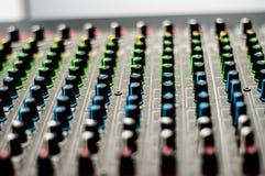 Audio console del miscelatore fotografia stock