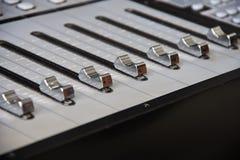Audio console di miscelazione Fotografia Stock Libera da Diritti