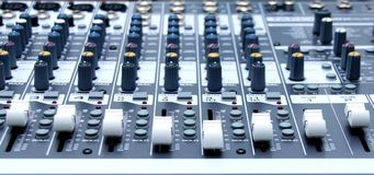 Audio console Royalty Free Stock Photo