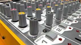 Audio console 5. Audio console in my home studio Royalty Free Stock Image