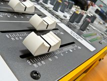 Audio console 7. Audio console in my home studio Stock Images