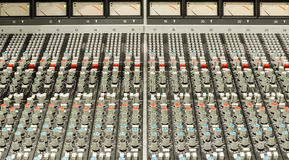 Audio console Royalty Free Stock Image