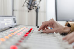 Audio console Stock Images