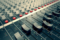 Audio Console. Stock Photo