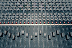 Audio Console. Stock Image