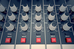 Audio Console. Royalty Free Stock Photo
