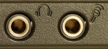 Audio contactdozen Royalty-vrije Stock Afbeelding