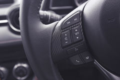 Audio control buttons of a modern car Royalty Free Stock Photo