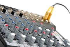 Audio control console Stock Photo