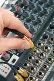 Audio control console Stock Photos