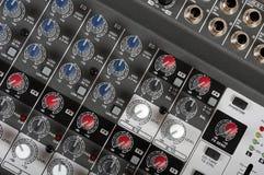 Audio control console Stock Photo
