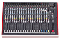 Audio control desk Royalty Free Stock Photography