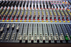 Audio control desk Stock Photos