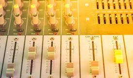 Audio controllo Fotografia Stock Libera da Diritti