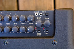 Audio controls on sound equipment Stock Photos