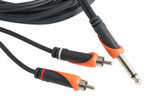 Audio cord Royalty Free Stock Photos