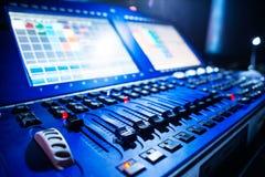 Audio correcte mixer stock foto