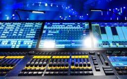 Audio correcte mixer Royalty-vrije Stock Foto