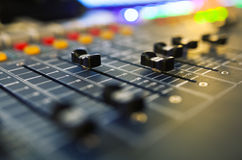 Audio correcte mixer stock foto's