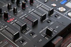 Audio cross fader Stock Images