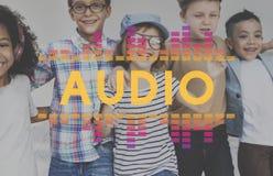 Audio Cyfrowego wyrównywacza muzyka Nastraja Rozsądnej fala grafiki pojęcie Obrazy Royalty Free