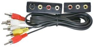 Audio dźwigarka włącznik na bielu zdjęcie royalty free