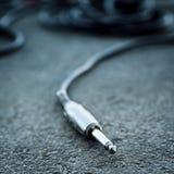 Audio del estudio o cable de instrumento Fotografía de archivo