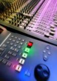 Audio del mezclador Fotografía de archivo libre de regalías