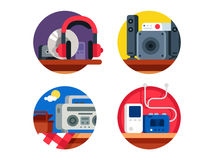 Audio device set Royalty Free Stock Images