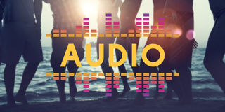 Audio Digital Equalizer Music Tunes Sound Wave Graphic Concept Royalty Free Stock Photography